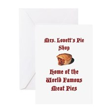 Mrs.Lovett's Pies Greeting Card