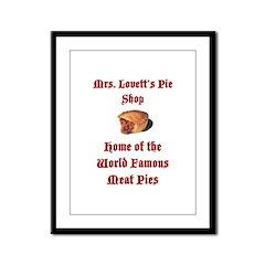 Mrs.Lovett's Pies Framed Panel Print