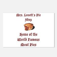 Mrs.Lovett's Pies Postcards (Package of 8)