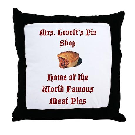 Mrs.Lovett's Pies Throw Pillow