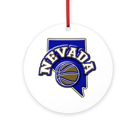 Nevada Basketball Ornament (Round)