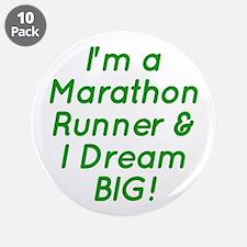 """Marathon Runner 3.5"""" Button (10 pack)"""