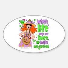 When Life Hands You Limes Oval Sticker (10 pk)