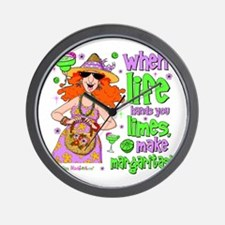 When Life Hands You Limes Wall Clock
