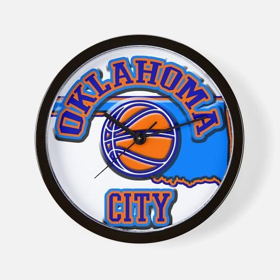 Oklahoma City Basketball Wall Clock