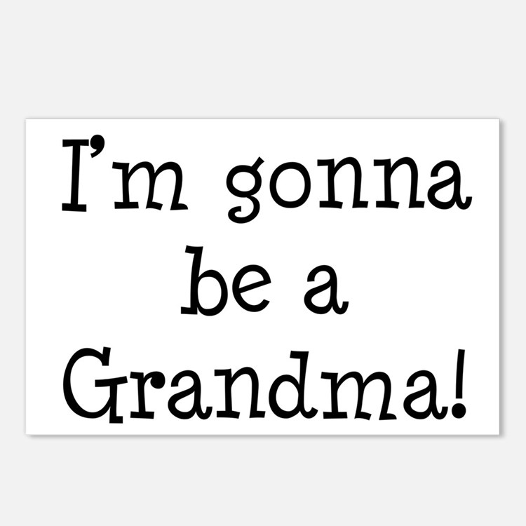 Gonna Be Grandma Postcards (Package of 8)