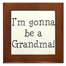 Gonna Be Grandma Framed Tile
