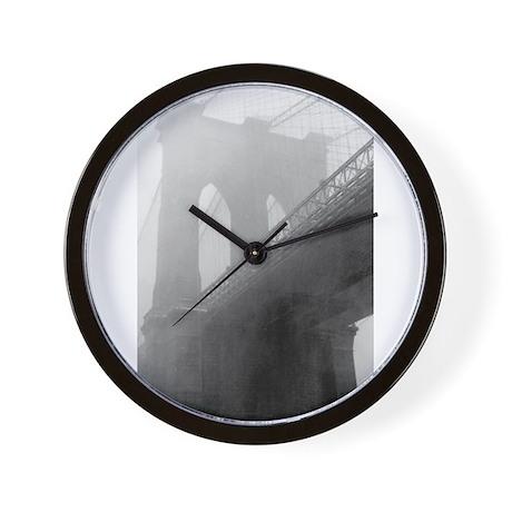 BROOKLYN BRIDGE -Fog Wall Clock