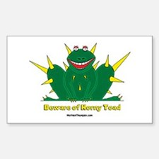 Horny Toad Rectangle Decal