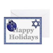 Happy Holidays Bulb & Star Greeting Cards (Pk