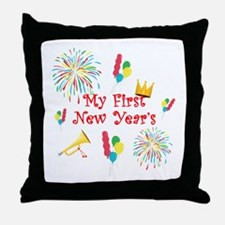 My First New Year's Throw Pillow