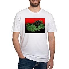 Furry Cat Christmas Wreath Shirt