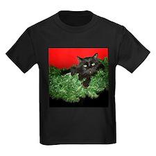 Furry Cat Christmas Wreath T