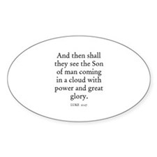 LUKE 21:27 Oval Decal