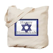 Happy Hanukkah Blue/Silver St Tote Bag