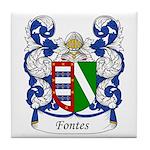 Fontes Family Crest Tile Coaster