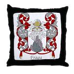 Fraga Family Crest Throw Pillow