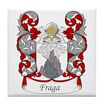 Fraga Family Crest Tile Coaster