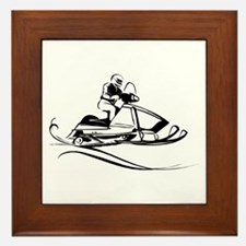 Snow Mobiling Framed Tile