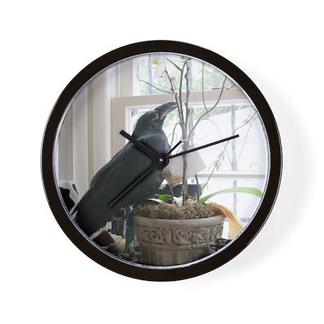 Baby Raven - Wall Clock