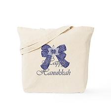 Happy Hanukkah Blue Ribbon/Bo Tote Bag