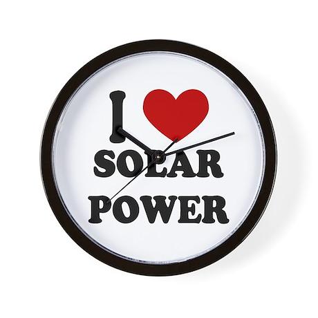 I Heart Solar Power Wall Clock
