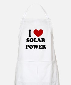 I Heart Solar Power BBQ Apron