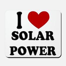 I Heart Solar Power Mousepad