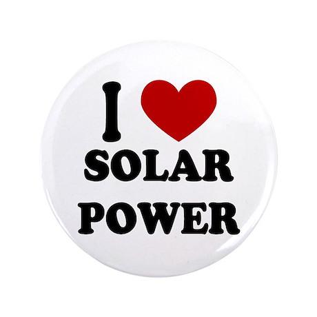"I Heart Solar Power 3.5"" Button"