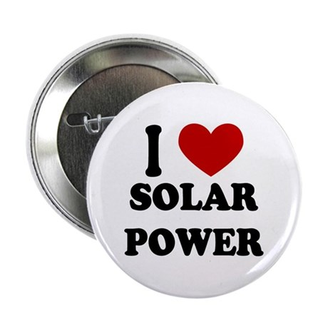 "I Heart Solar Power 2.25"" Button (10 pack)"