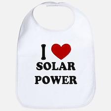 I Heart Solar Power Bib