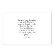 LUKE  21:23 Postcards (Package of 8)