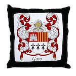 Gaio Family Crest Throw Pillow