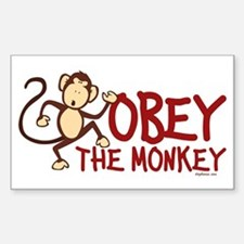Obey The Monkey Decal