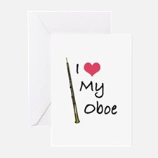 I Love My Oboe Greeting Cards (Pk of 10)