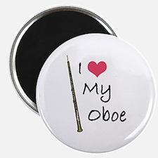 I Love My Oboe Magnet