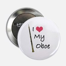 "I Love My Oboe 2.25"" Button"