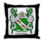 Goncalves Family Crest Throw Pillow