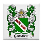 Goncalves Family Crest Tile Coaster