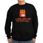 Beer Helping Men Fish Sweatshirt (dark)