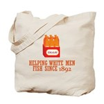 Beer Helping Men Fish Tote Bag