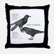 Crow vs. Raven -Throw Pillow