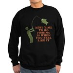 Best Time To Fish Sweatshirt (dark)