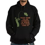 Best Time To Fish Hoodie (dark)