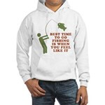 Best Time To Fish Hooded Sweatshirt