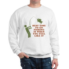 Best Time To Fish Sweatshirt