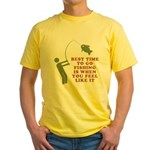 Best Time To Fish Yellow T-Shirt