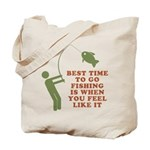 Best Time To Fish Tote Bag