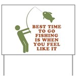 Best Time To Fish Yard Sign