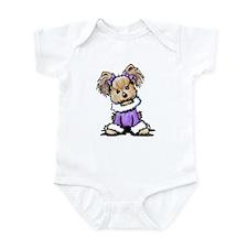 Purple Yorkie Cutie Infant Bodysuit